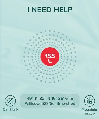 The Záchranka life-saving app: one click sends for help